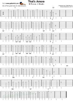 Easy Guitar Tabs, Backing Tracks, Dean Martin, Comedy Films, Guitar Lessons, Sheet Music, Singing, Songs, Amor