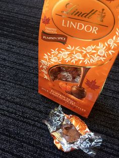 Pin for Later: The First Pumpkin Spice Products Have Just Hit Store Shelves — Heaven Help Us Lindt Lindor Pumpkin Spice Milk Chocolate Truffles ($4)