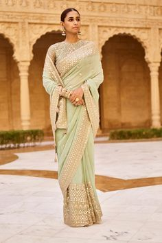 Shop from an exclusive range of luxurious wedding dresses & bridal wear by Anita Dongre. Bring home hand-embroidered wedding wear in colors inspired by nature. Buy now. Anita Dongre, Indian Wedding Outfits, Indian Outfits, Indian Clothes, Desi Clothes, Western Outfits, Bridal Lehenga, Saree Wedding, Lehenga Saree