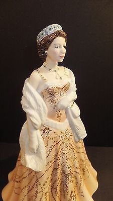 Royal Doulton Young Queens Queen Elizabeth II HN 5706 Brand New with Certificate of Authenticity Limited Edition of 2500 - Note: May be different number than one pictured. Hand Decorated Bone China Is