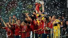 Spain have become the first country to win three major tournaments in a row.  Vicente Del Bosque's team undisputed kings of world football. FURIA ROJA