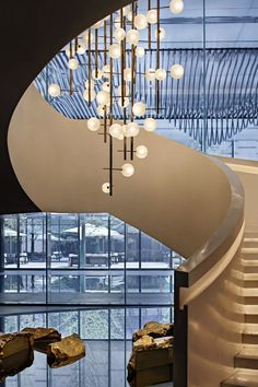 New ceiling lighting lobby house Ideas Luxury Chandelier, Chandeliers, Stair Lighting, Modern Windows, Lobby Design, Custom Lighting, Staircase Design, Small House Plans, Model Homes