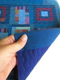Quilt facing --alternative to binding