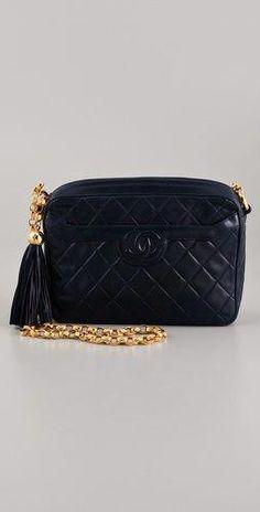 WGACA Vintage Vintage Chanel Handbag with Gold Chain  928c1f92f794a