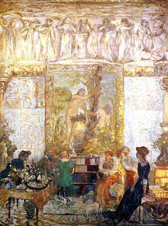 The Library, 1910 ~ Édouard Vuillard ~ (French: 1868-1940)