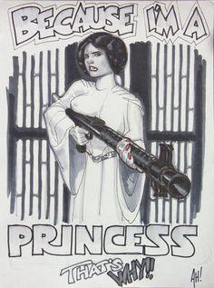 "Star Wars' Princess Leia Organa: ""Because I'm a Princess That's Why!"""