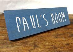 Personalised wooden door sign  Door sign  by MakeMemento on Etsy