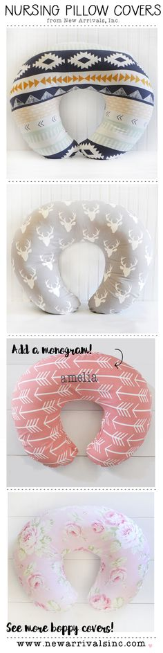 Choose from over 50 colors and styles of boppy pillow covers!  Personalize it with a monogram too!