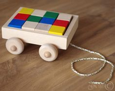 Wooden Pull Toy, Wooden Blocks, Wooden Toy Blocks Wagon Z410
