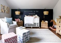 LOVE this nursery...chalkboard wall
