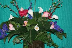 Silk arrangement selling for $75.00
