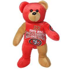 San Francisco 49ers 5-Time Super Bowl Champions Commemorative Thematic Plush Bear
