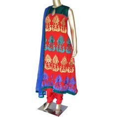 #NewArrival Ruby: Georgette suit with velvet yoke and resham work!  SHOP @ https://www.studiokairi.com/product.php?product=kairi267