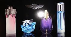 Thierry Mugler Miniatures Collection - Angel, Alien, Innocent, Womanity by Thierry Mugler. $40.00. Thierry Mugler  Travel Exclusive Miniatures Collection - 4 Miniatures Coffret. Angel - Just and Angel Drop eau de parfum - 5mL, .17 FL. Oz./ Womanity - eau de parfum - 5mL, .17 FL. Oz./  Alien eau de parfum - 6mL, .2 FL. Oz./ Innocent eau de parfum 5mL, .17 FL. Oz.