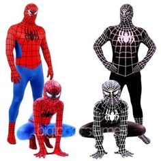 Spider- man zwart gif volwassen kinderen superheld lycra zentai halloween kostuum spiderman held(China (Mainland))