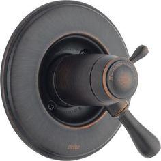 Delta TempAssure Volume Control Faucet Trim with Lever Handles Finish: Venetian Bronze
