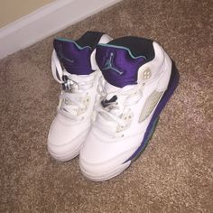 Grape 5s 8/10 condition just needs good cleaning Jordan Shoes Sneakers