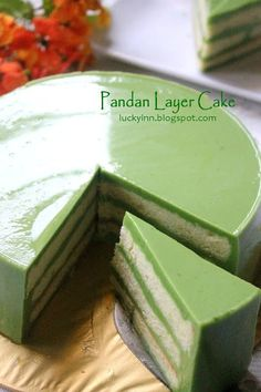 Cake Receipe, Layer Cake Recipes, Dessert Recipes, Layer Cakes, Tea Recipes, Asian Recipes, Yummy Recipes, Recipies, Pandan Layer Cake
