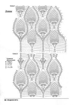 Graficos y Crochet: Blusa de piñas