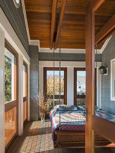 Sleeping Porch bedroom idea Warren Avenue - traditional - porch - new york - by Richard Bubnowski Design LLC
