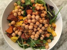 Tales of chickpeas as a salad topper, pasta mixer, and palate pleaser for all diners. Healthy Stew Recipes, Chickpea Salad Recipes, Healthy Soup, Dietitian, Soups And Stews, Salads, Vegan, Cook, Simple