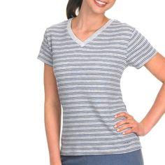 bcc9a918504 Jockey Women Striped V-Neck Sleep T-Shirt - Plus Size (bestseller)