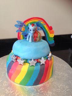 Ella's my little pony cake - rainbow dash