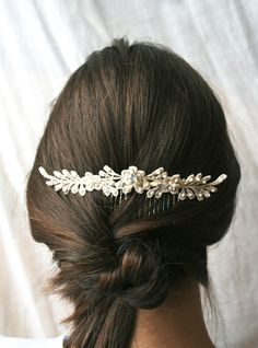 Lace Hair Comb Wedding Hair Comb Bridal Hairpiece by laurastark