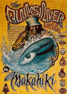 Eddie Aikau_The Quiksilver In Memory_by Rick Rietveld. Poseidon Tattoo, Surf Competition, Surf Logo, Surf Design, Logo Design, Tiki Art, Skate Art, Vintage Surf, Surf Art