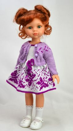 Ольга Вершинина Doll Clothes Patterns, Clothing Patterns, Little Darlings, Beautiful Dolls, Crochet, American Girl, Baby Dolls, Harajuku, Flower Girl Dresses
