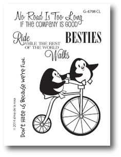 The Cat's Pajamas - Besties stamp.  There are 8 penguin cards @ bottom of this pin.