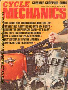 1971 July Cycle Mechanics Motorcycle Magazine Back-Issue Motorcycle Salvage, Motorcycle Mechanic, Mx Boots, Riding Boots, Army Shoes, Vintage Honda Motorcycles, Honda 750, Cb750, Street Bikes