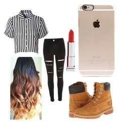 Swag by niam2cute on Polyvore featuring polyvore, beauty, Maybelline, Incase, Glamorous, River Island and Timberland
