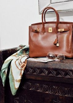 hermes bag and scarf Frockage: Hermes Birkin bag