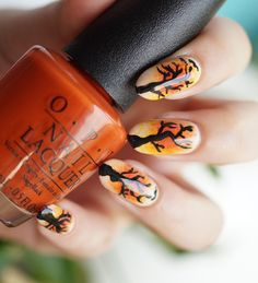 fall is here and this is a mani to suite the waether! all used with OPI colors!