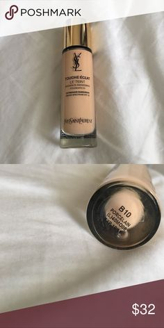 YSL Radiance Awakening Foundation Shade B10. I'm pretty pale and it suits me fine, if anything it's sliigghhttlllyy too light. Good for dry/normal skin! Only getting rid of because I have way too much makeup lol. About 75-80% of product left. Yves Saint Laurent Makeup Foundation