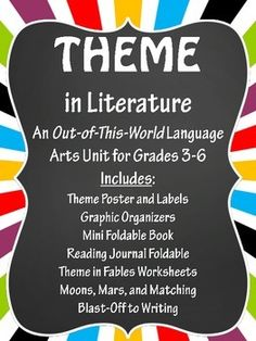 Theme in Literature:  Theme Match, Fables, Foldables, Writ