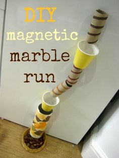 This DIY marble run is really easy to make and might just be away for you to enjoy a cuppa!!