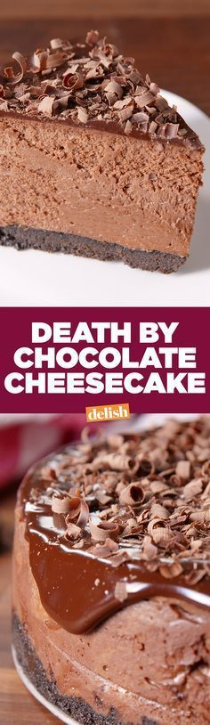 Death By Chocolate Cheesecake will be the star of every party. Get the recipe on Delish.com.
