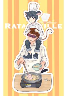 Pretty old movie now but i thought it would be fun Remy as a human and Linguini cooking! Ratatouille (C) Pixar Ratatouille! Disney Pixar, Disney Ships, Disney Fan Art, Disney Fun, Disney And Dreamworks, Pixar Movies, Disney Movies, Animation Movies, Ratatouille Characters