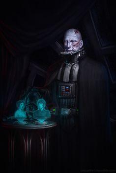 Portret van een Vader A Star Wars fan art. Anakin Vader, Darth Vader, Anakin Skywalker, Star Wars Saga, Star Wars Fan Art, Star Trek, Star Wars Brasil, Starwars, Images Star Wars