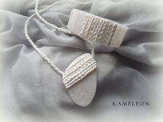 Kameleon - biżuteria z mas polimerowych i makramy