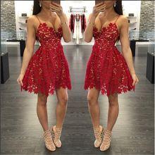 Sexy Hot red fita oco mulheres vestido Do Vintage impressão irregular fora do ombro 2016 verão sem costas vestido de festa vestidos alishoppbrasil
