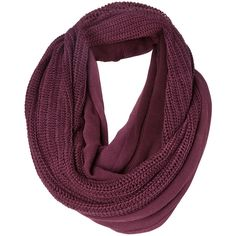 Object Collectors Item Beat Circle Knit Scarf (24 CAD) ❤ liked on Polyvore featuring accessories, scarves, bufandas, accessories - scarves, deep purple, tube scarf, circle scarf, knit infinity scarves, chunky knit infinity scarf and knit tube scarf