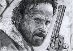 Andrew Lincoln  Rick Grimes - The Walking Dead  Pencils on common paper.  Alessandro Masciari on ArtStation