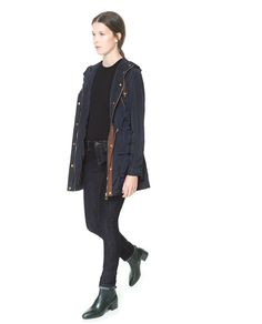 Image 1 of PARKA WITH HOOD AND POCKETS from Zara