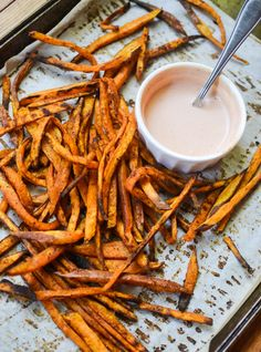 Baked Sweet Potato Fries with Comeback Dipping Sauce - Warm Vanilla Sugar