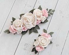 Easter Felt Flower Crown - Floral Headband - Floral Crown - Floral Hair Accessory - Felt Flower Accessory - Toddler Headband #toddlerheadbands #feltflowers