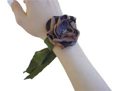 Leather Flower Bracelets for women Antique Leather by ManoBello