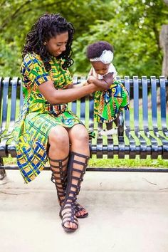 Choose from the best and beautiful matching African ankara styles for mother and daughter. These ankara styles are meant for stunning mother and daughter African Dresses For Women, African Print Dresses, African Print Fashion, African Attire, African Wear, African Women, African Prints, African Outfits, Kitenge